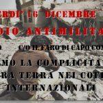 MORAS aderisce al presidio antimilitarista 16 dicembre Capo Comino